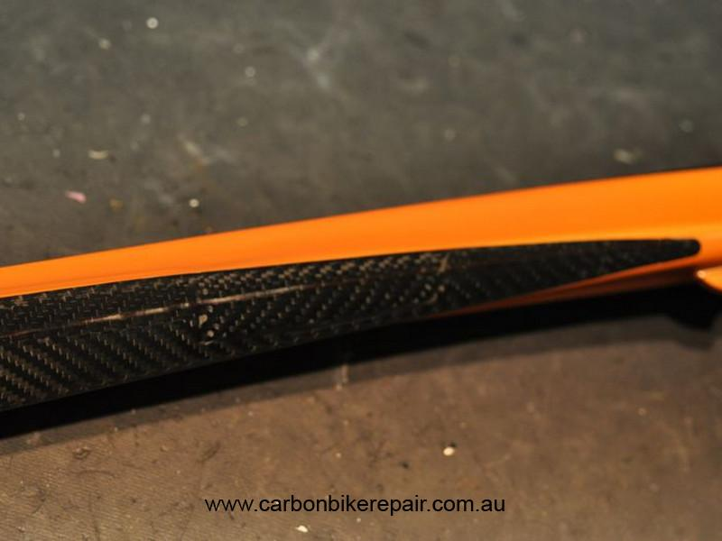 Orbea Orca top tube after