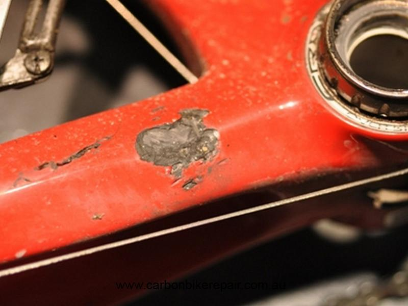 Pinarello Chain stay damage before